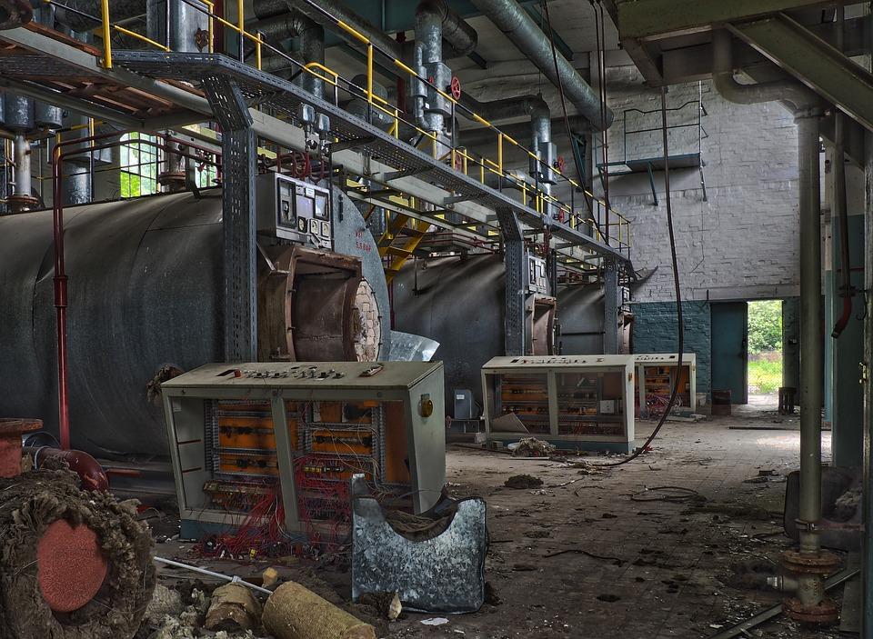 Kotłownia w fabrykach